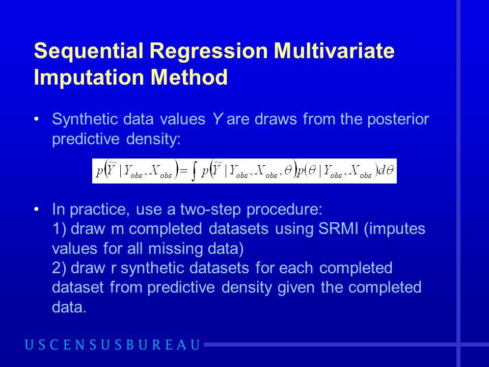 Sequential Regression Multivariate Imputation Method