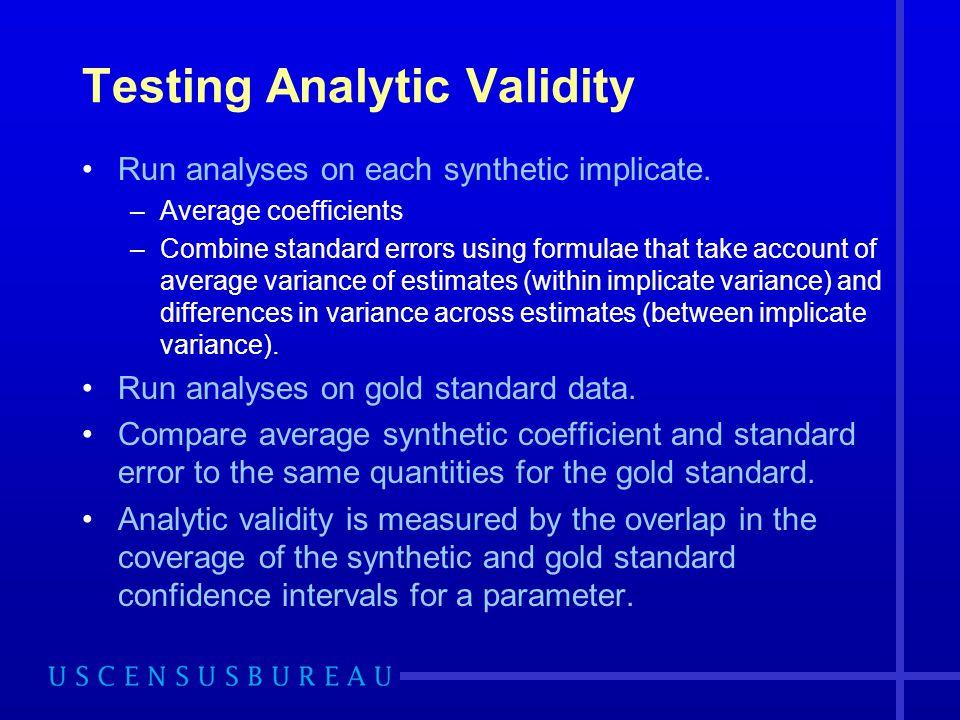 Testing Analytic Validity