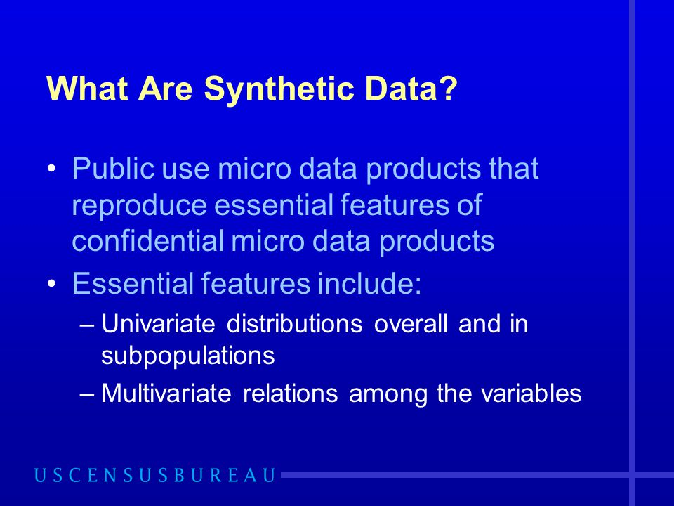 What Are Synthetic Data