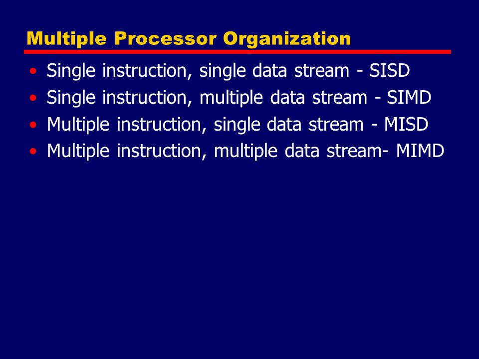 Multiple Processor Organization