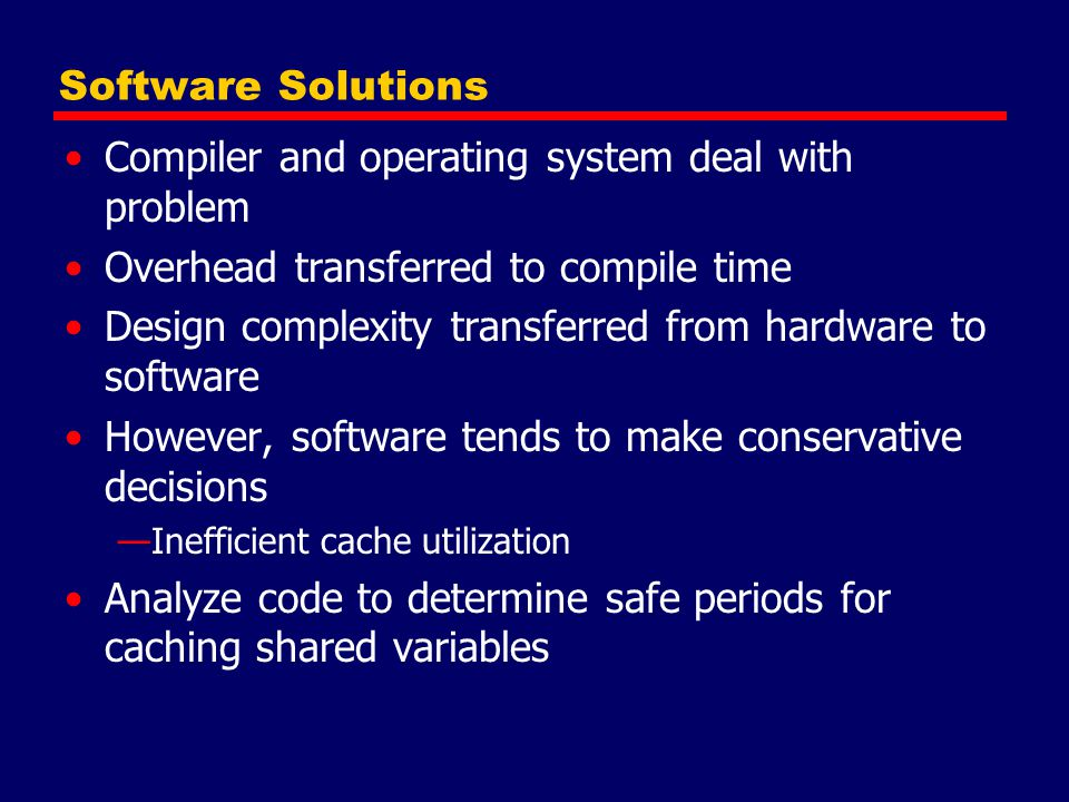 Compiler and operating system deal with problem