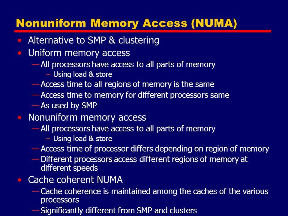 Nonuniform Memory Access (NUMA)