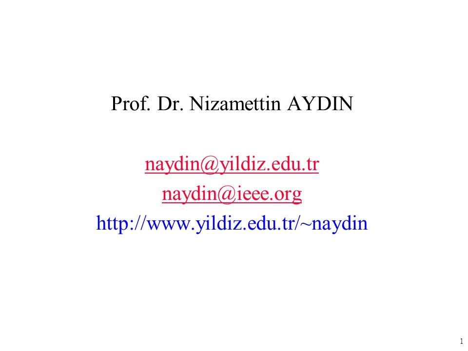 Prof. Dr. Nizamettin AYDIN