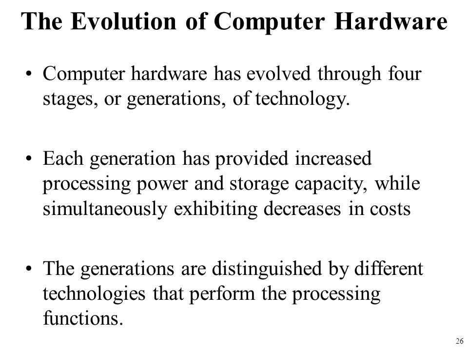 The Evolution of Computer Hardware