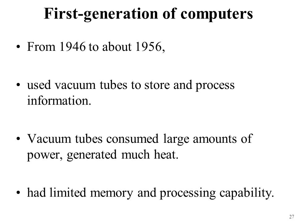 First-generation of computers