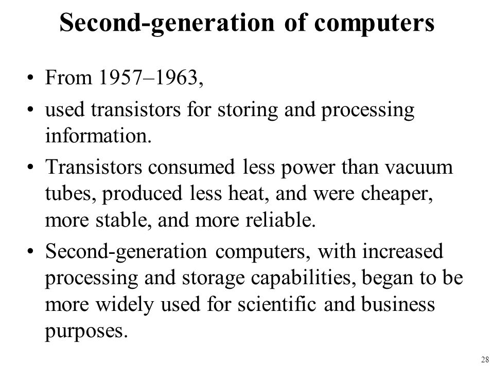 Second-generation of computers