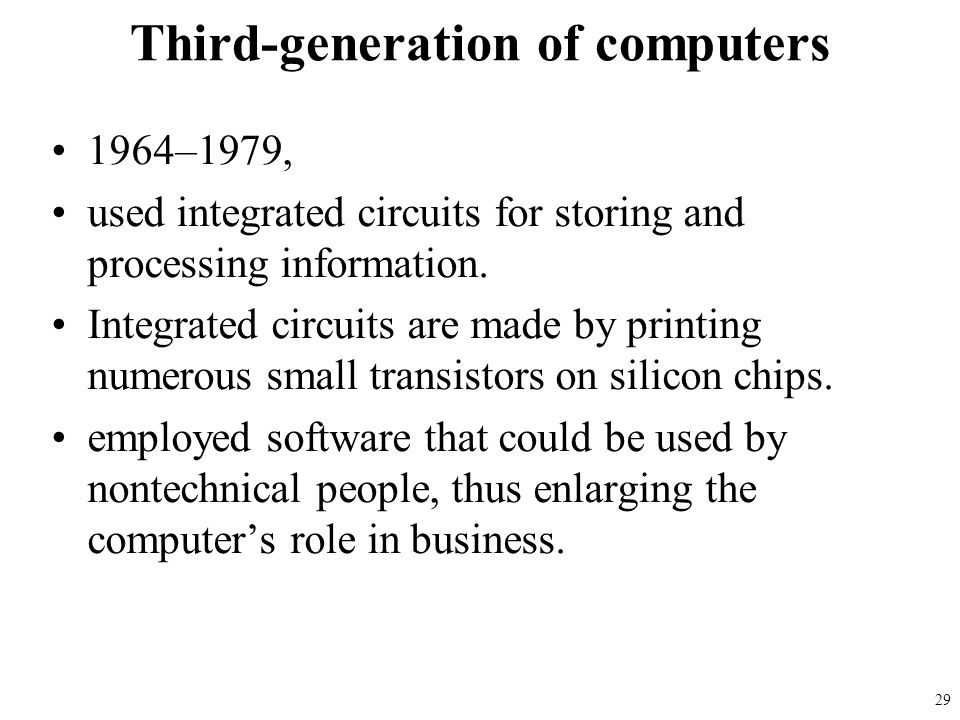 Third-generation of computers