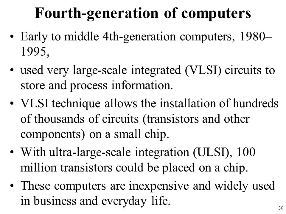 Fourth-generation of computers