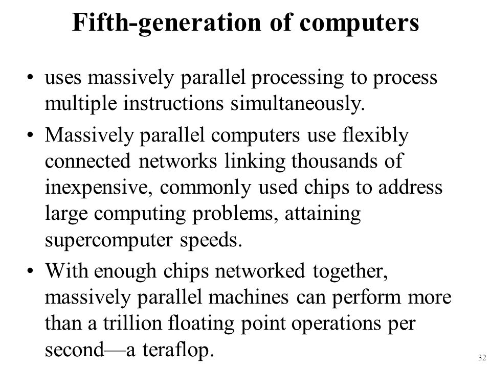 Fifth-generation of computers