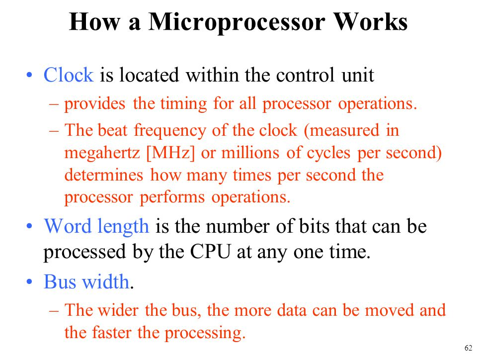 How a Microprocessor Works