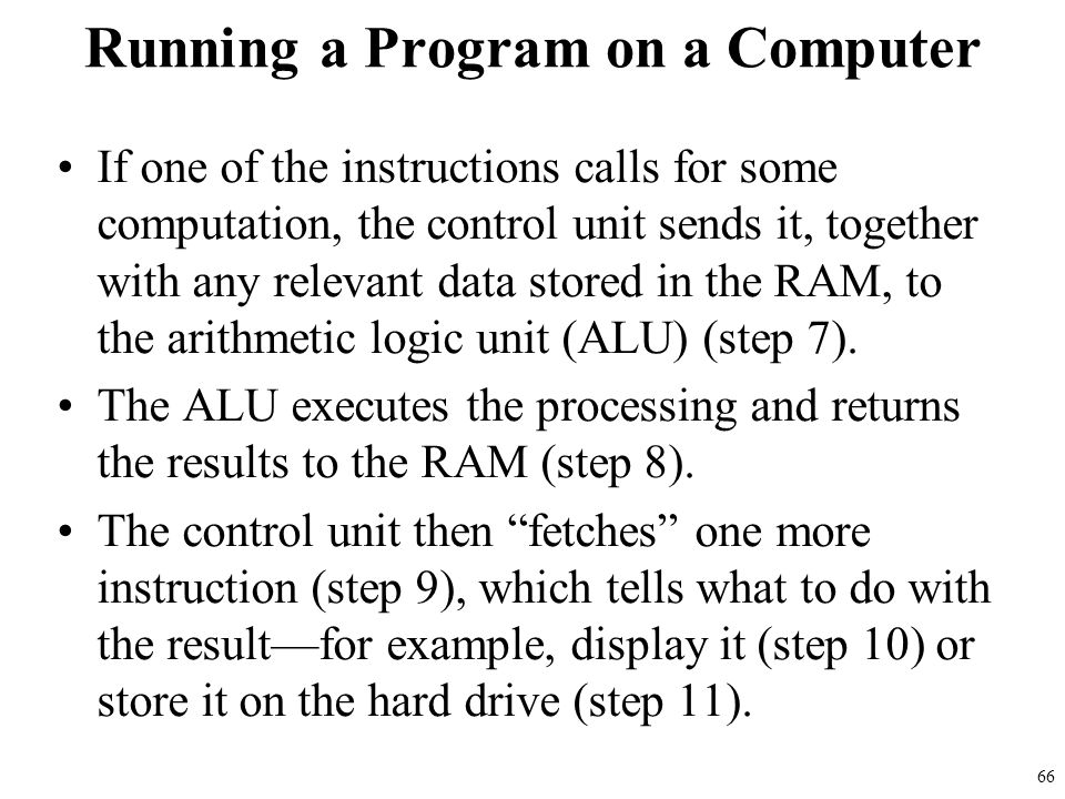 Running a Program on a Computer