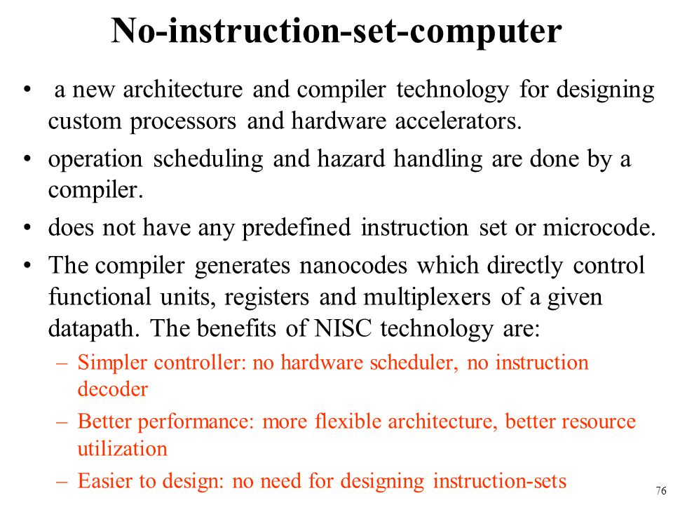 No-instruction-set-computer