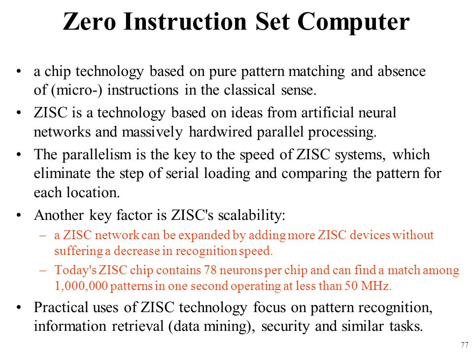 Zero Instruction Set Computer