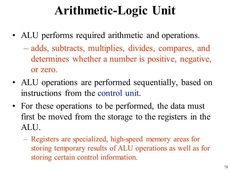 Arithmetic-Logic Unit