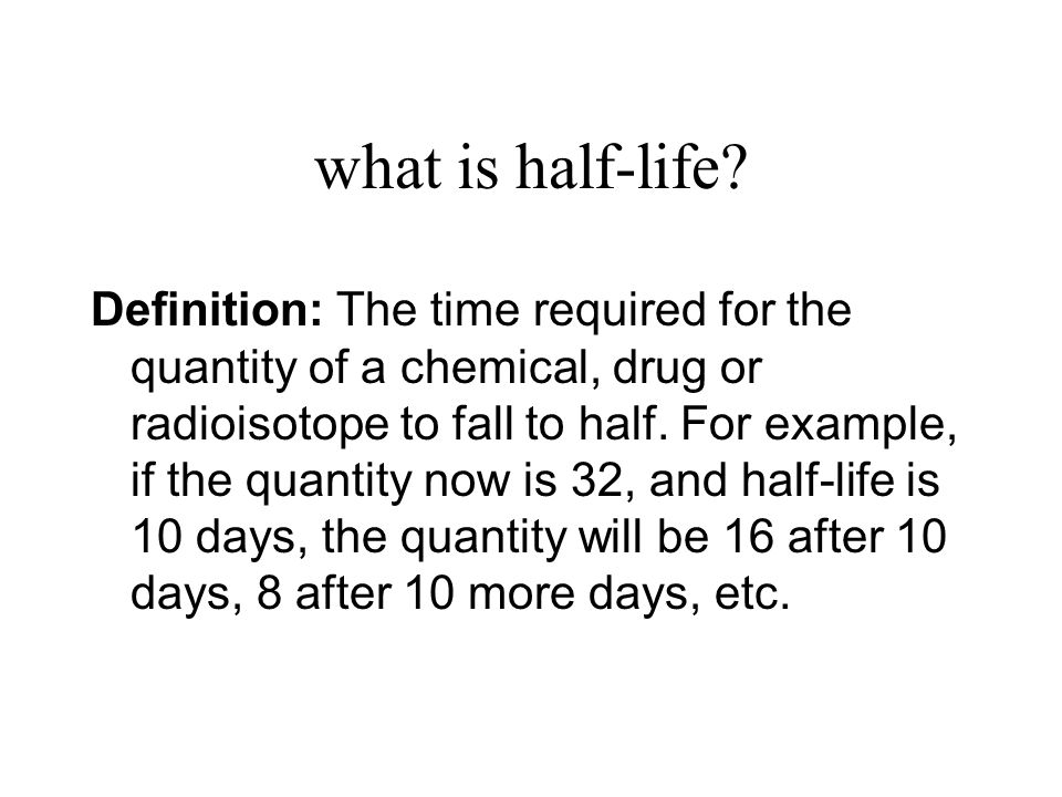 what is half-life