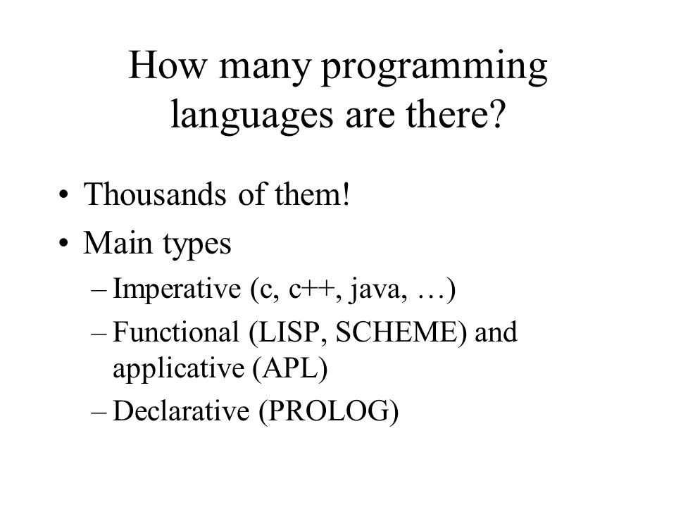 How many programming languages are there
