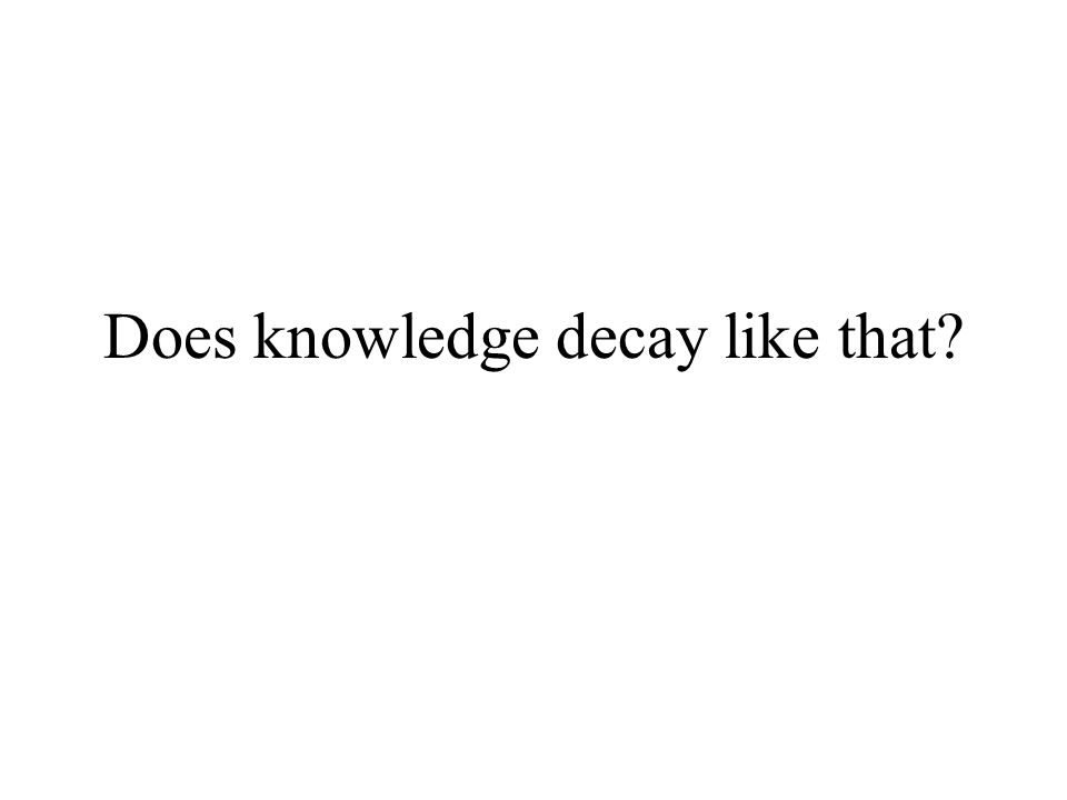 Does knowledge decay like that