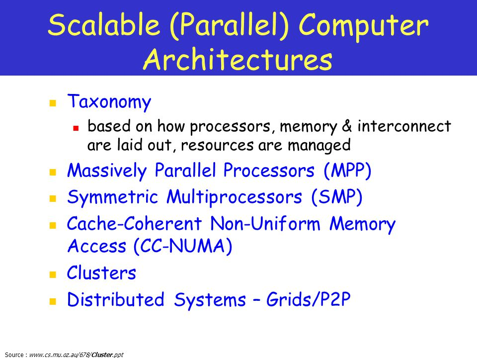 Scalable (Parallel) Computer Architectures