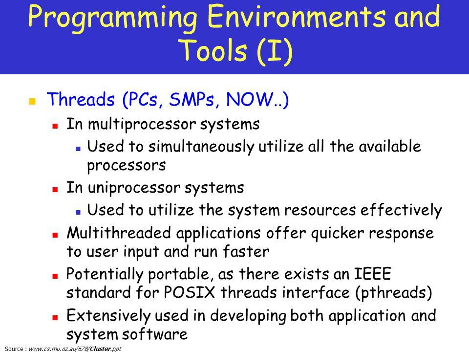 Programming Environments and Tools (I)