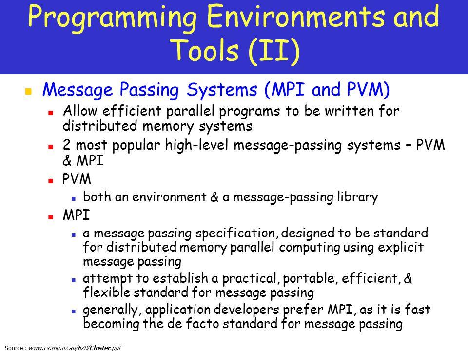 Programming Environments and Tools (II)