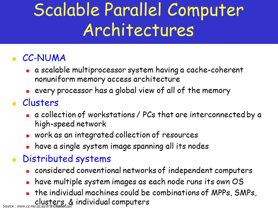 Scalable Parallel Computer Architectures