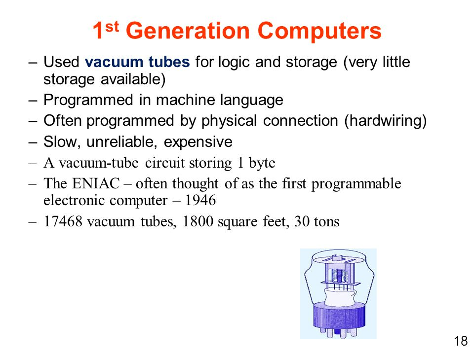 1st Generation Computers
