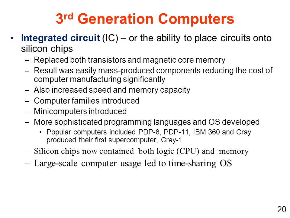 3rd Generation Computers