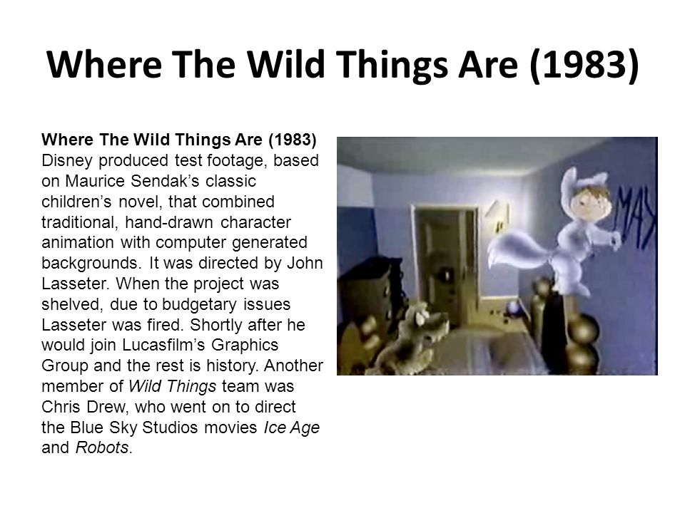 Where The Wild Things Are (1983)