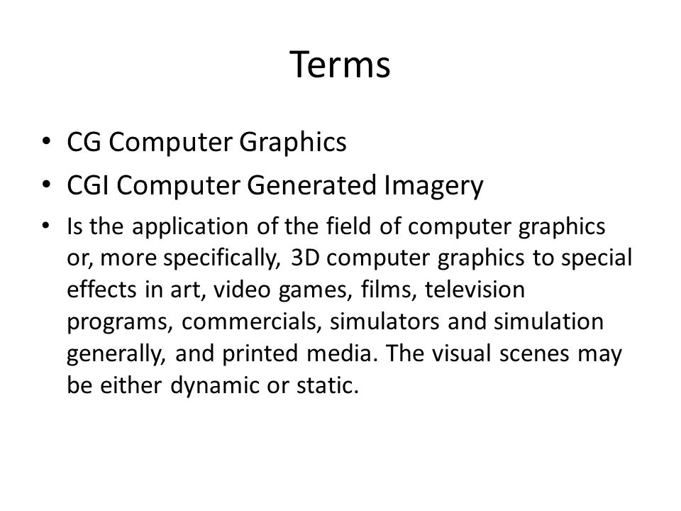 application of graphics in computer