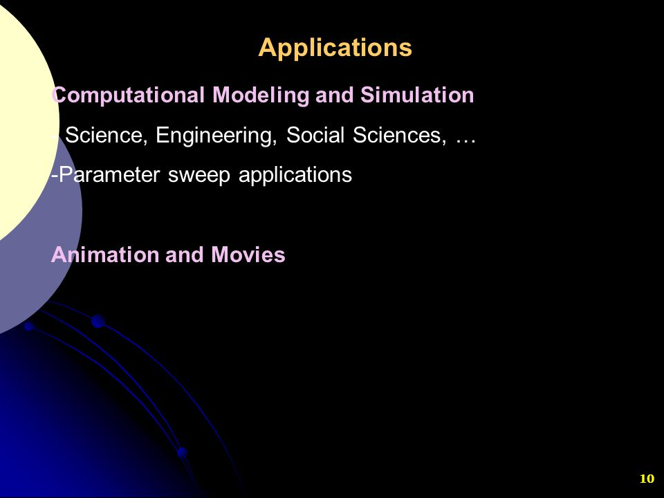Applications Computational Modeling and Simulation