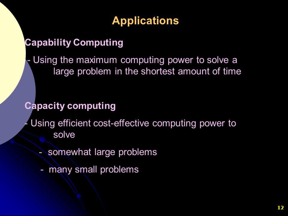 Applications Capability Computing