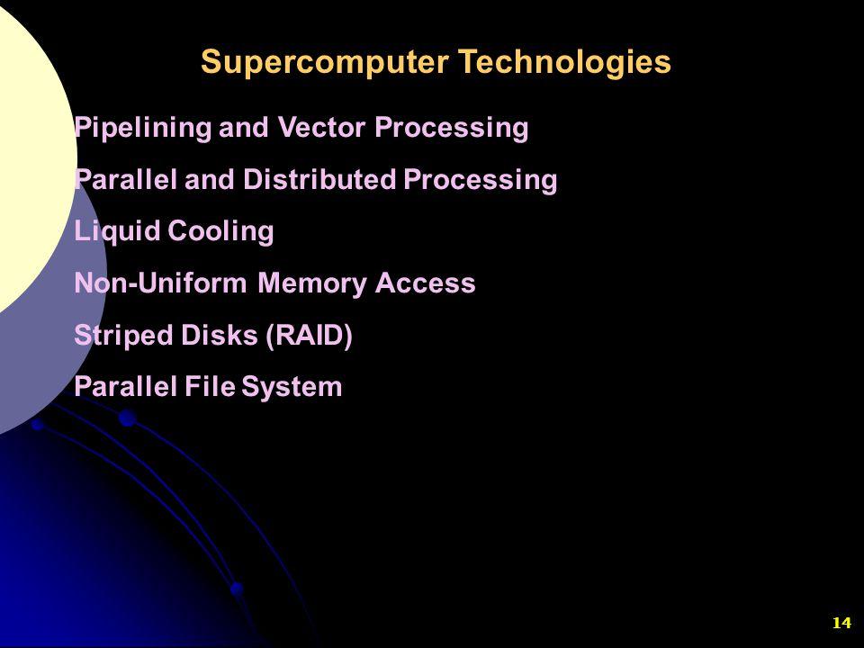Supercomputer Technologies