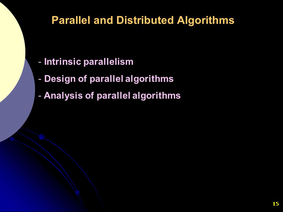 Parallel and Distributed Algorithms