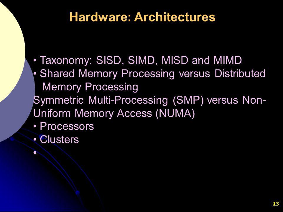 Hardware: Architectures