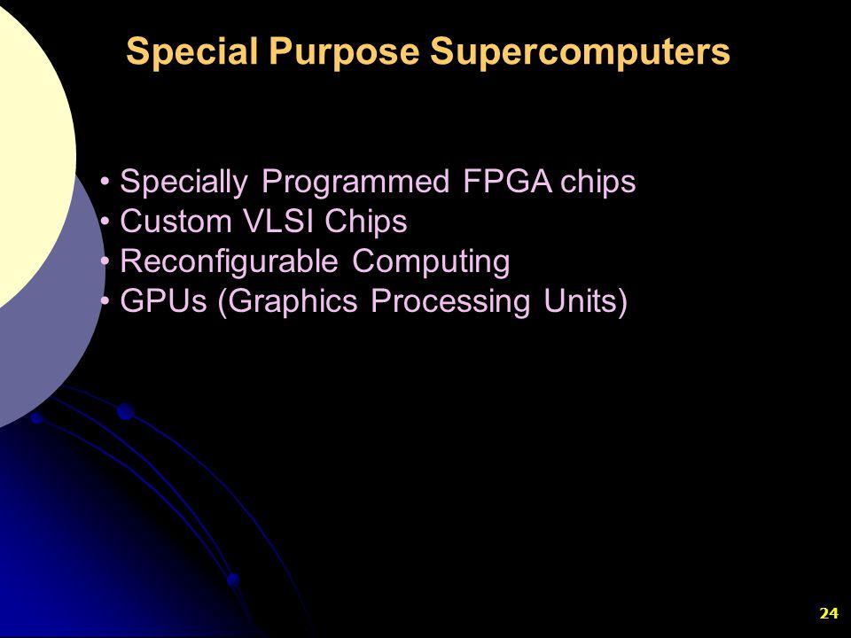 Special Purpose Supercomputers