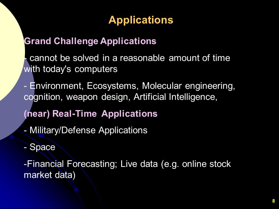 Applications Grand Challenge Applications