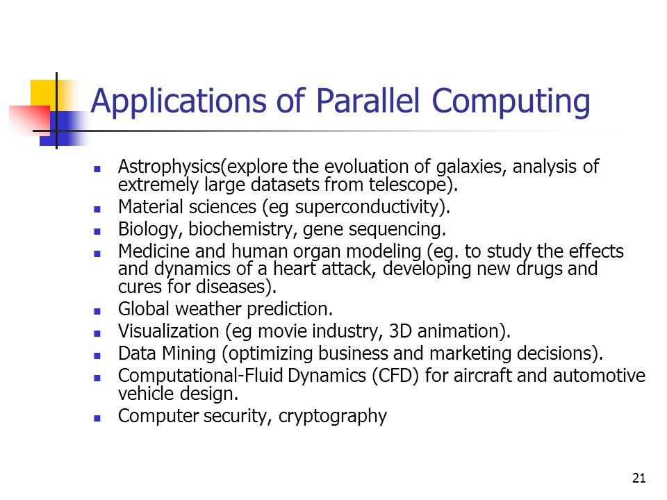 Applications of Parallel Computing