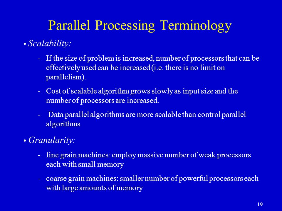 Parallel Processing Terminology