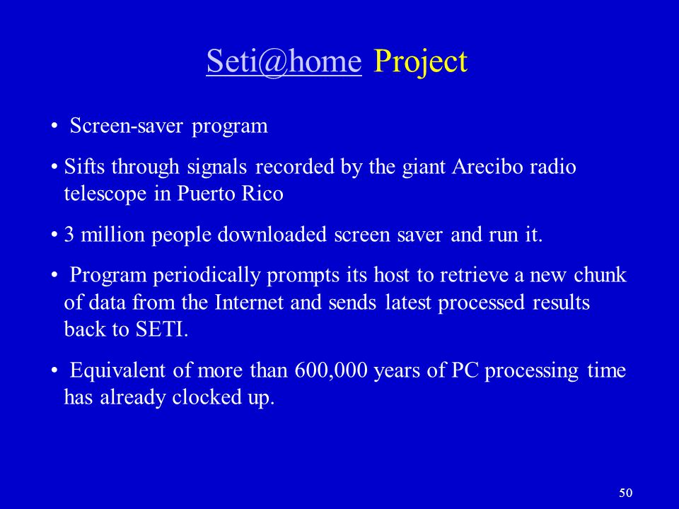 Seti@home Project Screen-saver program