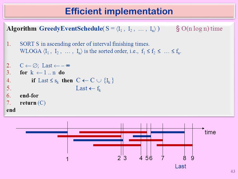 Efficient implementation
