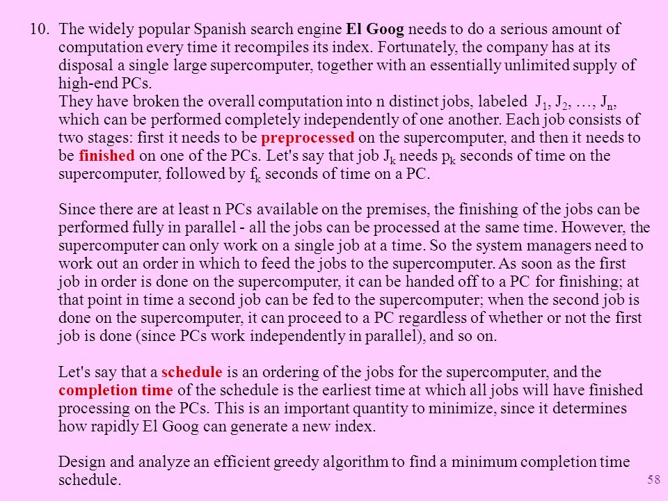 The widely popular Spanish search engine El Goog needs to do a serious amount of computation every time it recompiles its index.
