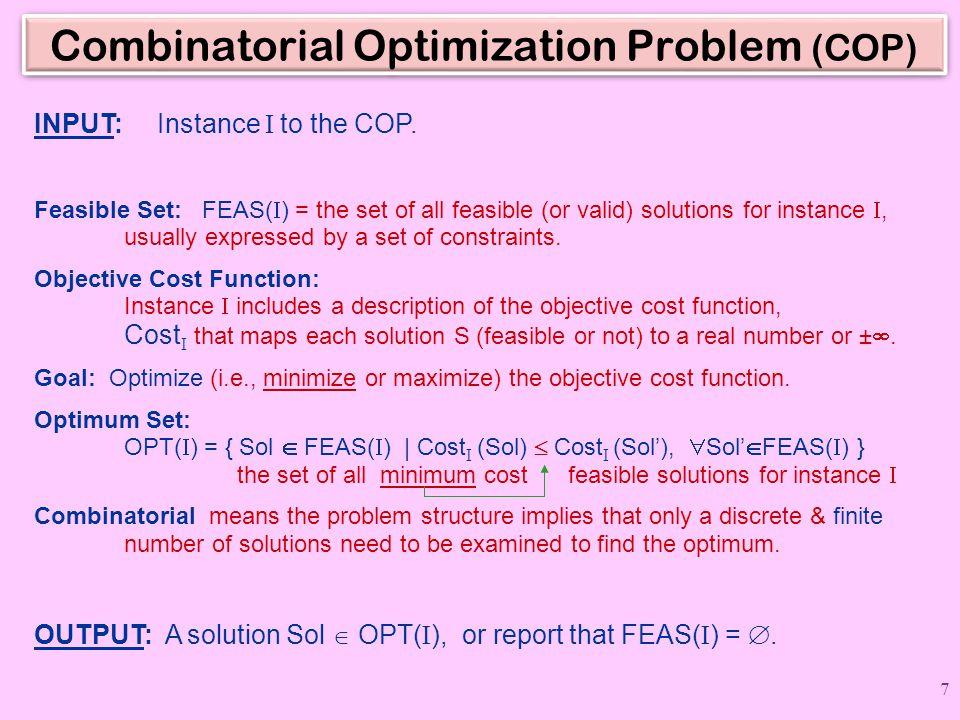 Combinatorial Optimization Problem (COP)