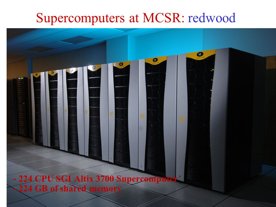 Supercomputers at MCSR: redwood
