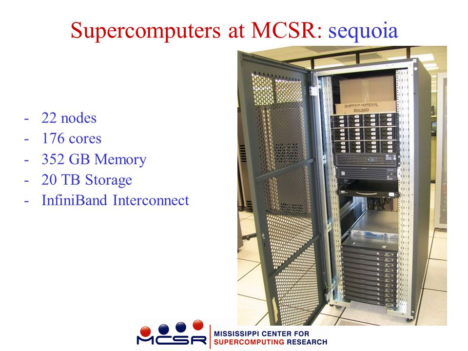 Supercomputers at MCSR: sequoia