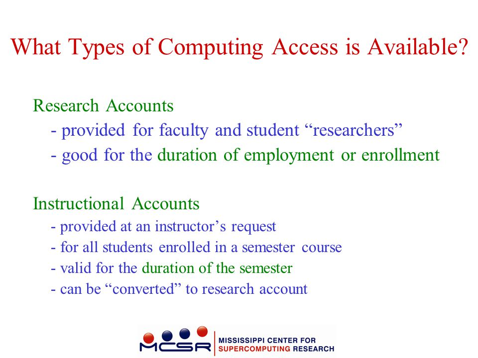 What Types of Computing Access is Available