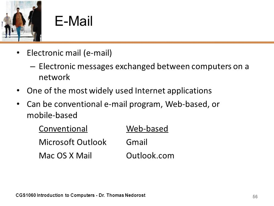 E-Mail Electronic mail (e-mail)