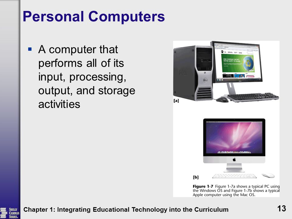 Personal Computers A computer that performs all of its input, processing, output, and storage activities.