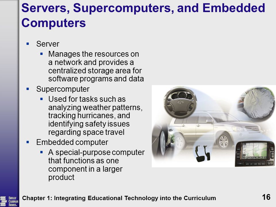 Servers, Supercomputers, and Embedded Computers