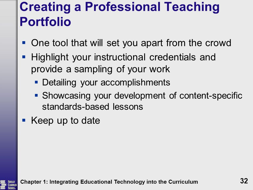 Creating a Professional Teaching Portfolio