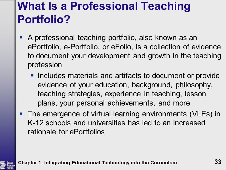 What Is a Professional Teaching Portfolio